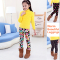 Winter Warm Children Leggings With Pictures And Beautiful Thicken  Girls Pants Elastic Waist  Fleece Leggings