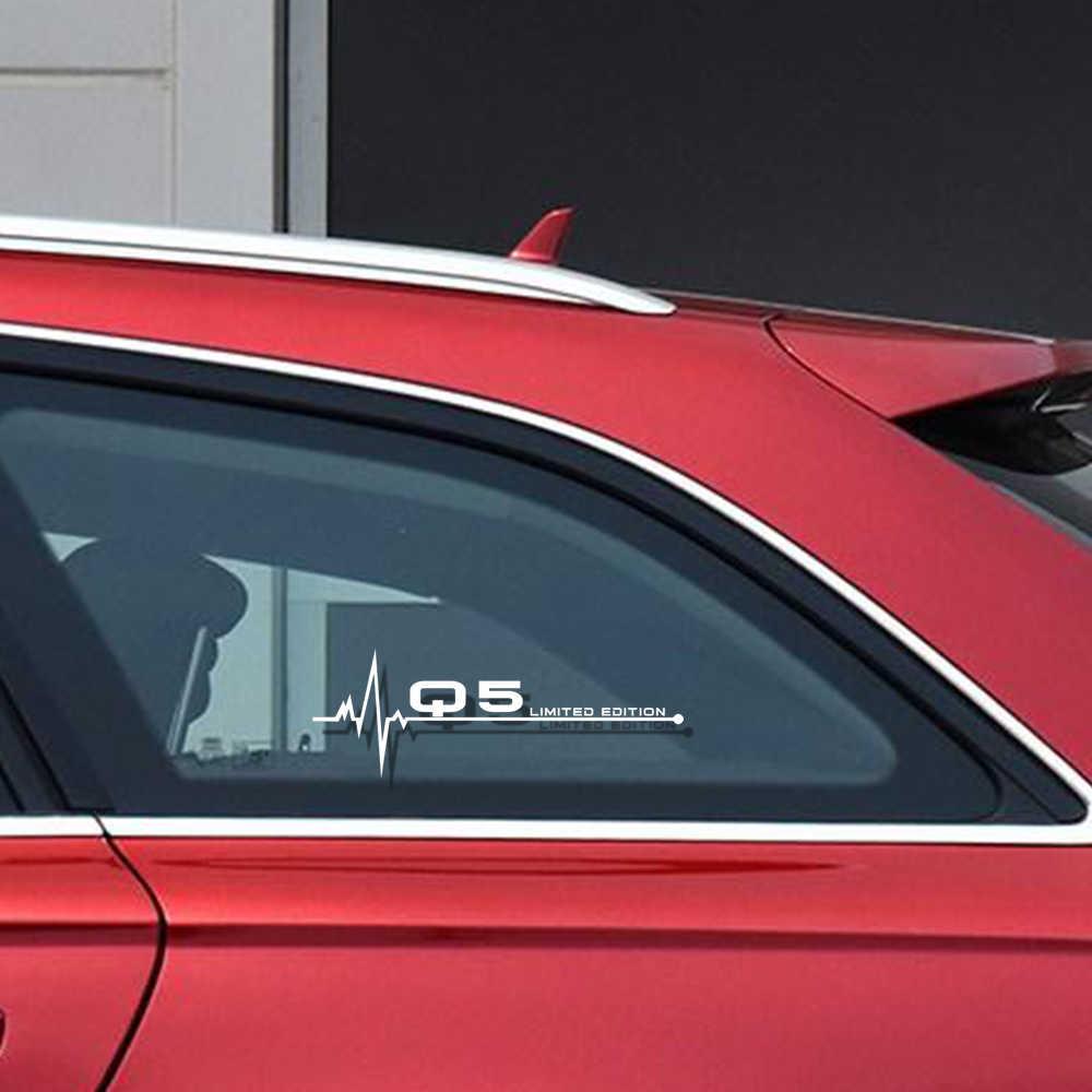 Estilo do carro Reflexivo Janela Decalque Adesivos para Audi A1 A3 A4 A5 A6 A7 A8 Q3 Q5 Q7 RS3 RS4 RS5 RS6 RS7 TT TTS TTRS Acessórios