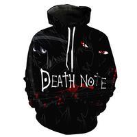 2017 New Fashion Cool Sweatshirt Hoodies Men Women 3D Print Death Note Hot Style Streetwear Long