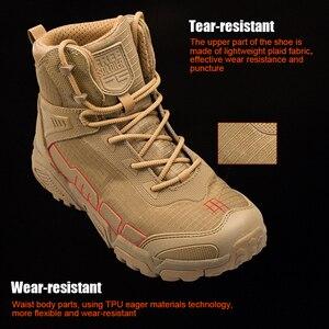 Image 4 - Soldado livre esportes ao ar livre acampamento caminhadas tático militar botas dos homens sapatos de escalada leve montanha bota