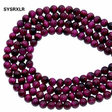 Charm Natural Stone Beads Red Tiger Eye Agates Round  For Jewelry Making DIY Bracelet Necklace 6 8 10 12 MM Strand 15