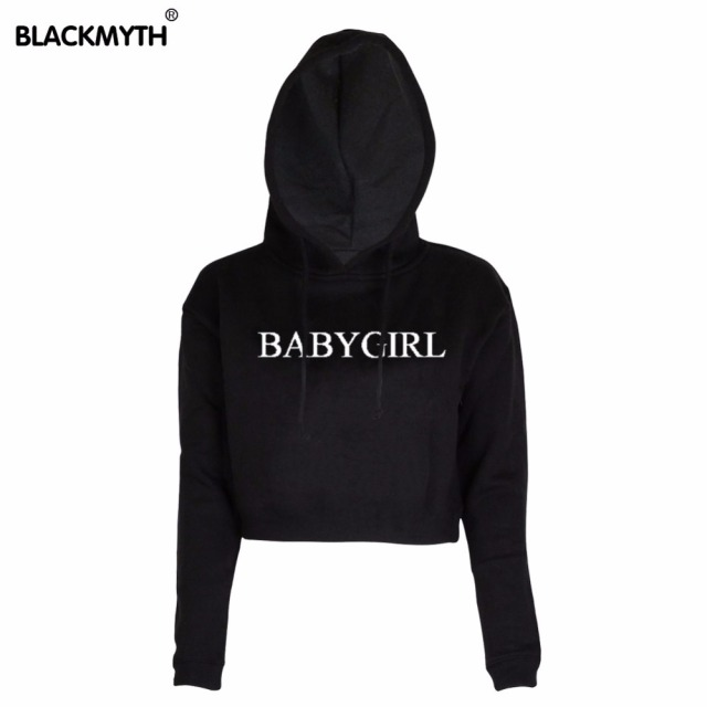 Baby Girl Letter Print Casual Women S Tops O Neck Hoodies Black