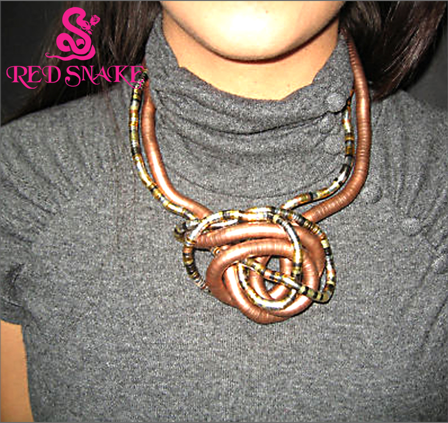 RED SNAKE Bendy Necklace Length 900mm * 5mm / 6mm / 8mm Bendable - Märkessmycken