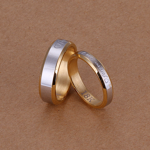 FOREVER PURE LOVE Best Selling gold plated Lover Couple Rings