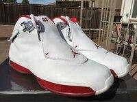 JORDAN 18 Basketball Shoes AJ18 Low help JORDAN Sneakers Men Basketball Shoes white grey size:41 47
