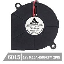 1000pcs 60mm x 15mm 60mm 6cm 6015 DC 12V 0.15A Blower Cooling Cooler Fan Plstic Small Blower Cooler