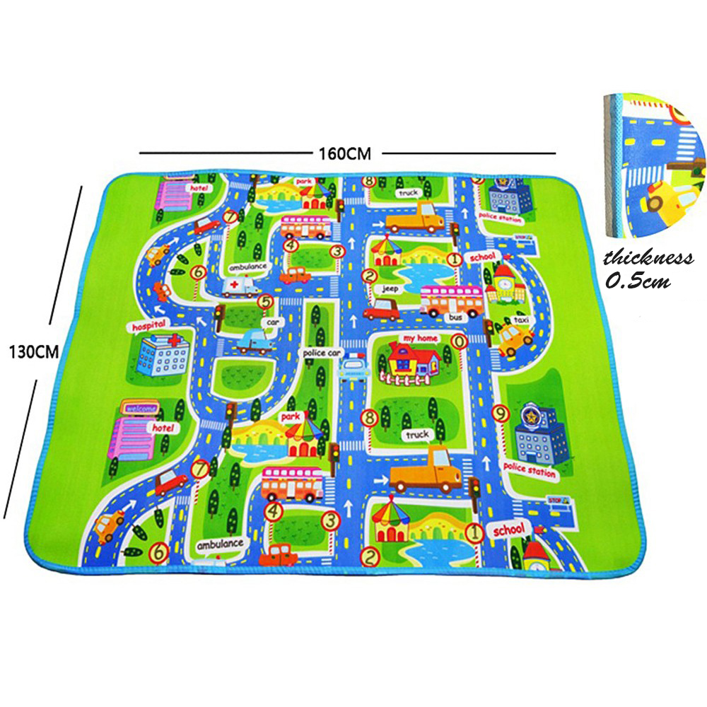 happy city play mats baby toys road carpets 16013005cm puzzle mat