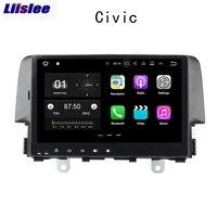 Liislee 2 din Car Navigation GPS For Honda Civic 2016~2018 Android Big Screen Audio Video Radio Multimedia Player Bluetooth