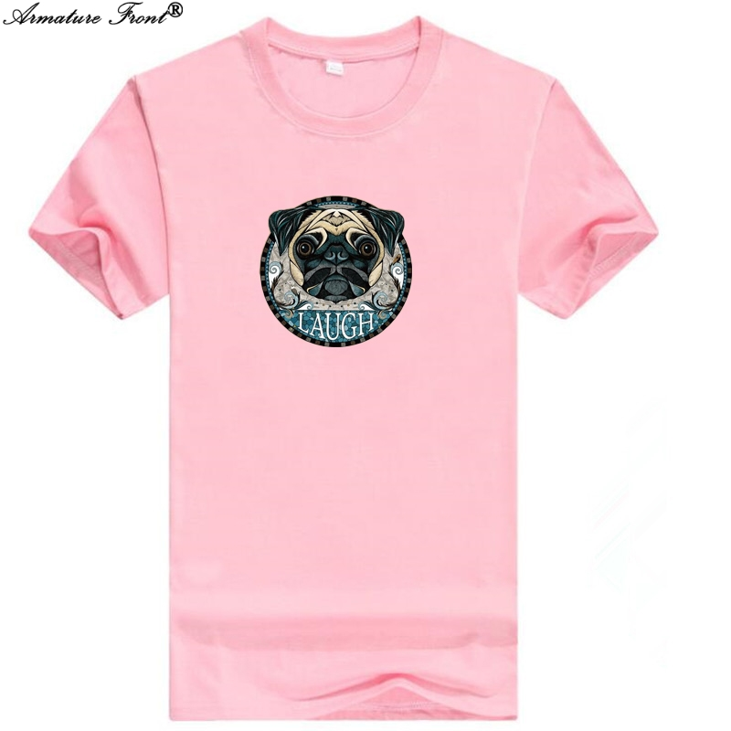 Cartoon Animal Dog Print Bts Tees Cotton Clothes Summer 2019 Women T-shirt Camisas Tops Couple Harajuku Modis Pink Tshirt B81 Sale Overall Discount 50-70%