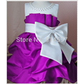 2017 New Arrival Flower Girl Dresses For Wedding Girls Princess Dress Kids Summer Party Dresses With Bow Vestido Da Minnie Roupa
