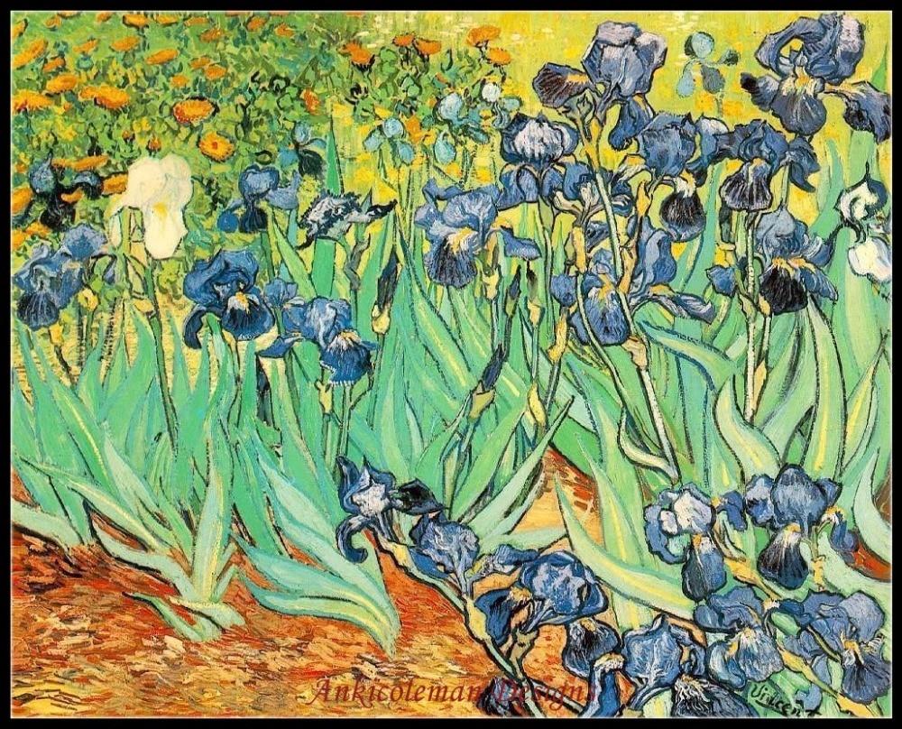 Embroidery Counted Cross Stitch Kits Needlework - Crafts 14 ct DMC color DIY Arts Handmade Decor - Van Gogh, Irises