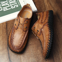 BACKCAMEL2018 Spring Summer New Casual Shoes Leather Men's Shoes Europe and The United States Retro Leather Manual Driving Shoes