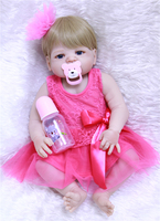 NPK Bebe Reborn Doll real Silicone Reborn Baby Dolls live Toys For children cute Birthday Gift wiht pacifier Accessories Stuffed