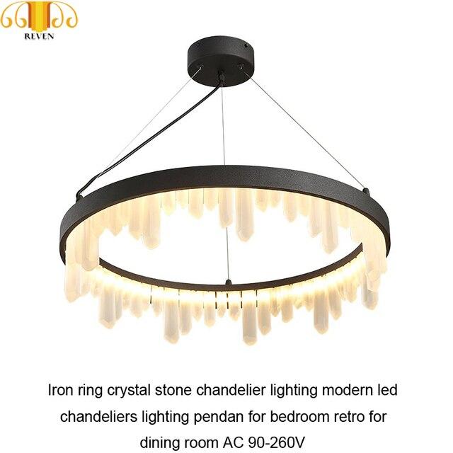 NEVEN Iron ring crystal stone chandelier lighting modern led chandeliers lighting pendan for bedroom retro for dining room