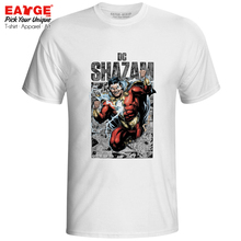 Shazam From Comic T Shirt Captain Marvelous Print Superhero Design Super Hero T-shirt Brand Cool Punk Unisex Men Women Tee