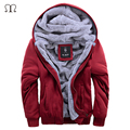 2016 Winter Casual Men Hoodies and Sweatshirts Hooded Baseball Coat Warm Fleece Hoodie Velvet Men's Sportswear Brand Clothing