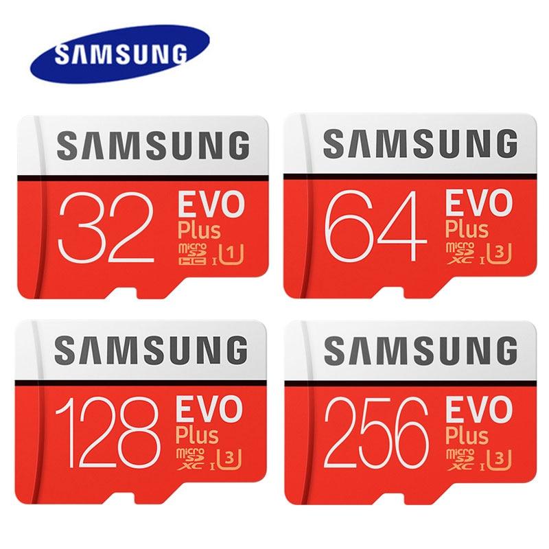 SAMSUNG EVO Plus 256 GB Carte Mémoire 128 GB 64 GB U3 4 K Micro SD carte 32 GB U1 SDHC Classe 10 Microsd UHS-I C10 TF Trans Flash Microsd