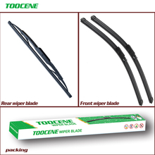 Front And Rear Wiper Blades For Seat Altea 2004-2009 Rubber Windshield Windscreen wiper Auto Car Styling Accessories 26+26+13
