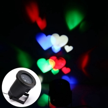 New LED Projector Stage Light elf Romantic heart light laser for outdoor garden holiday Christmas decoration free shipping