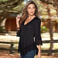 FANALA Autumn T Shirt New Fashion Women Long Sleeve Casual Lady Tops Chiffon Lace Patchwork Femininos Basic Shirt Blusa