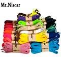 Mr. Niscar 1 Par Acessórios Sapato de Poliéster Cadarços Planas para Sapatos Casuais Colorido Cadarços Multi Color 100 cm 120 cm 140 cm