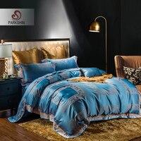 ParkShin Luxury Bed Sheet Pillowcases Duvet Cover Set Silk Bedspread 100%Cotton Bed Linen Euro Set Double Queen King Bedding Set