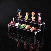 Detachable 1/2/3 layers acrylic cosmetics rack Cartoon character storage holders car model toy purse perfume display stand