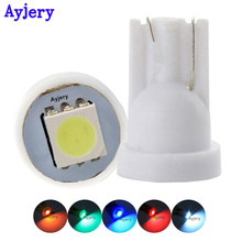 AYJERY 50PCS T10 Base Led 168 194 5050 1 SMD 1 LED Wedge Light Bulbs Dashboard Indicator Light Reading Lamp 12V DC Car Light(China)