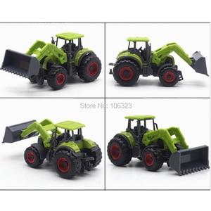 Image 4 - 新しい4 in 1ロットメタル+ ABS合金ファームトラックモデル、ファーマーカーダイキャスト玩具車両:コーンライスハーベスタートラクターブルドーザー