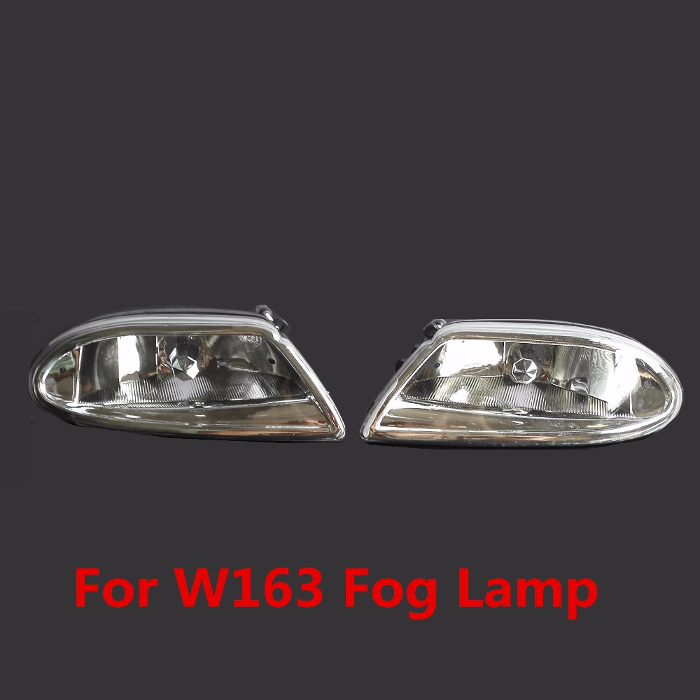 For MERCEDES-BENZ W163 1998/99/2000/01/02/03/04/05 car styling fog lights 1 SET Fog lamps 1 pair 5x7 7x6 inch rectangular sealed beam led headlight for jeep cherokee h6014 h6052 h6054 h6052 led headlight