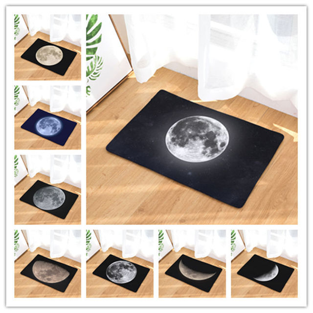 Custom Make Moon Print Welcome Doormat Home Decoration Nordic Style ...