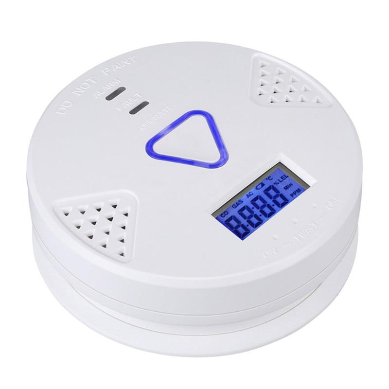 New CO Detector Voice LED Warning CO Detector Carbon Monoxide Sensor Alarm Home Security Tester for Safety Home