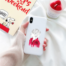 BTS White Soft Silicone iPhone Cases [9 Designs]