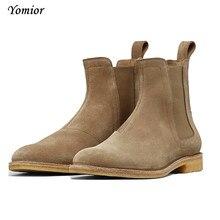 Мужские ботинки челси ручной работы, винтажные повседневные ботинки, универсальные весенние ботинки Kanye West, роскошные свадебные вечерние ботинки на платформе, кроссовки