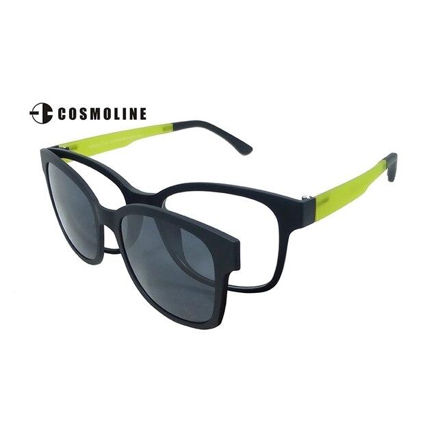 Cosmoline  2016 Brand Designer Glasses Lens Clip On Sunglasses Flip Up Clip Driving Sun Glasses Polarized Women Sunglasses 370