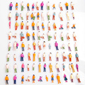 Горячая 100 шт. Люди Модель Mini HO Масштаб 1:100 Окрашенные Модель Люди Mix Окрашенные Модель Поезда Park Street Пассажирские Люди цифры