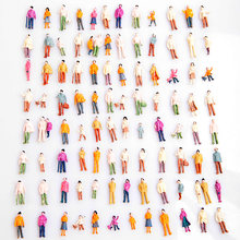 Hot 100pcs Model People Mini HO Scale 1:100 Painted Model People Mix Painted Model Train Park Street Passenger People Figures(China)