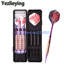 Professional soft 18 grams fly safely standard electronic dart needle type rose gold plated dart suit
