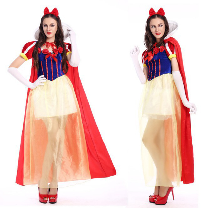Adult Snow White Costume Cosplay Fantasia Halloween Role Play Costumes For Women Princess Dress Fancy Party Sexy Dress
