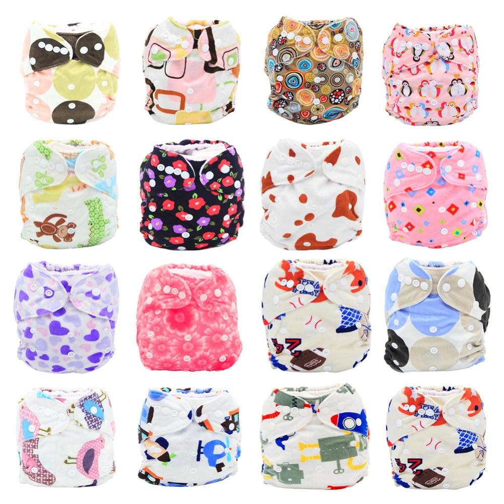 Neue Baby Tuch Windeln Reusable Cartoon Baumwolle Tuch Windel Waschbar Baby Windeln Tasche Wasserdicht Mit Einsatz Mutter & Kinder Babypflege