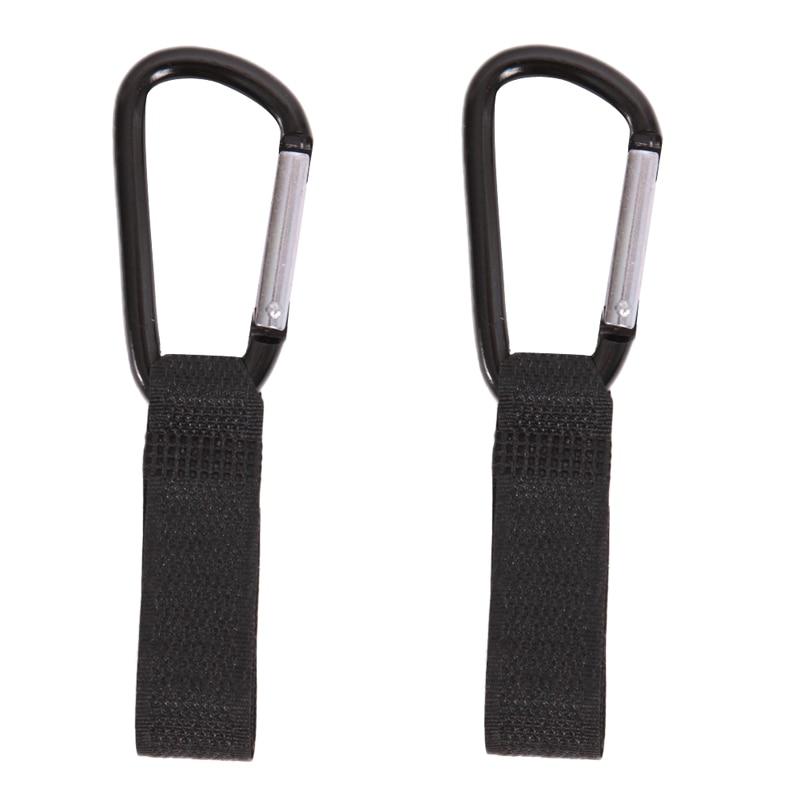2pcs Universal Pram Stroller Pushchair Bag Hooks Carabiner Stroller Clips
