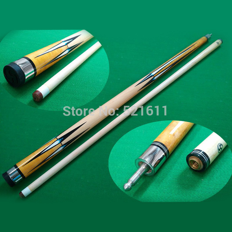 xmlivet Professional 57 inch High quality Maple Wood 1 2 Jointed Billiards Pool Cue Stick in