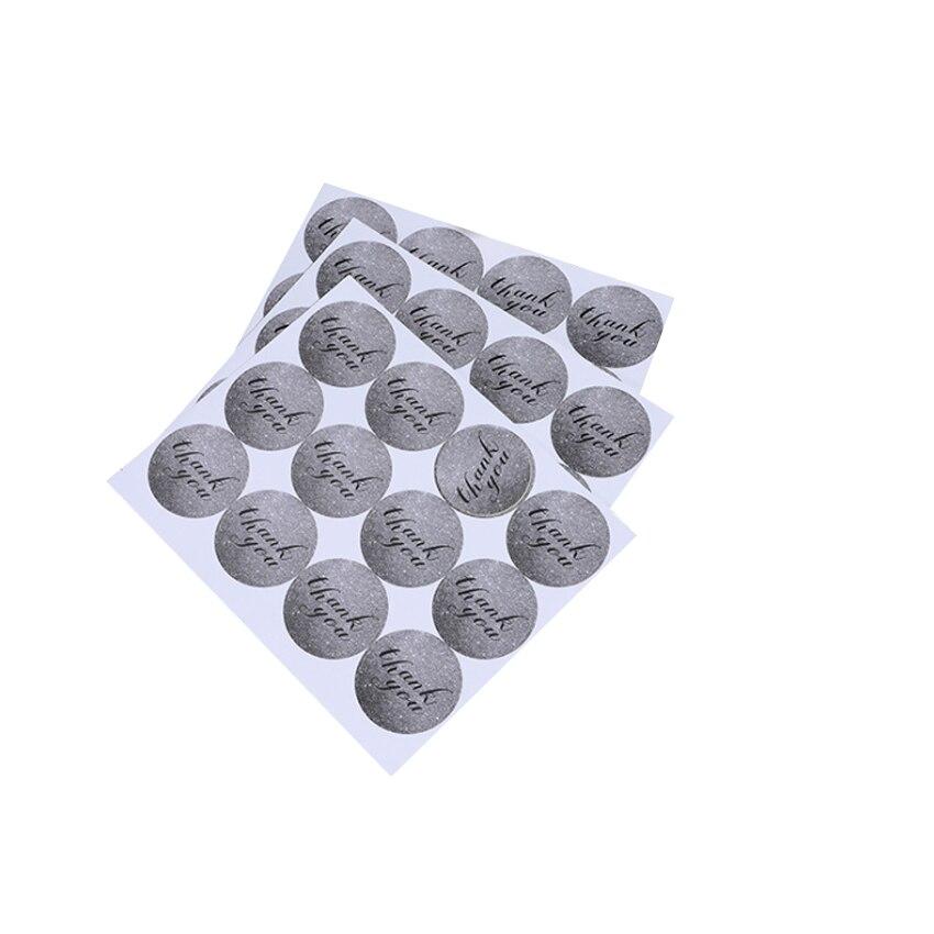 120 Pcs/lot Grey Thank You Sealing Sticker DIY Gifts Posted Baking Decoration Label Multifunction