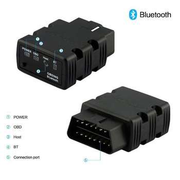 цена на KONNWEI  KW902 ELM327 Mini Bluetooth Wireless OBD2 OBDII Interface Car Auto Scanner Car Diagnostic Tool , Free Shipping