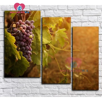 Triptych Diamond embroidery fruit grape Diamond mosaic full square rhinestones diamond painting cross stitch full square gifts