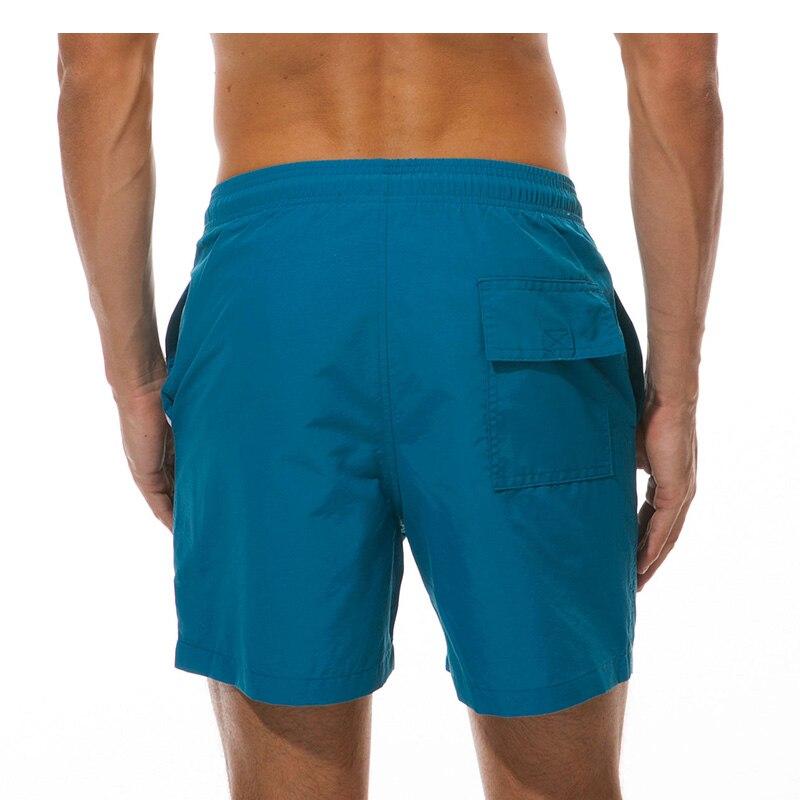 shorts cor sólida cintura elástica shorts de praia verão nadar shorts