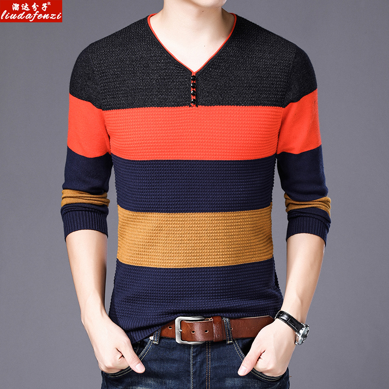 Men's Clothing New Fashion New Product Thick High Collar Mens Sweater Solid Color Self-cultivation Bottoming Lapel Knit Sweater Sweater Male