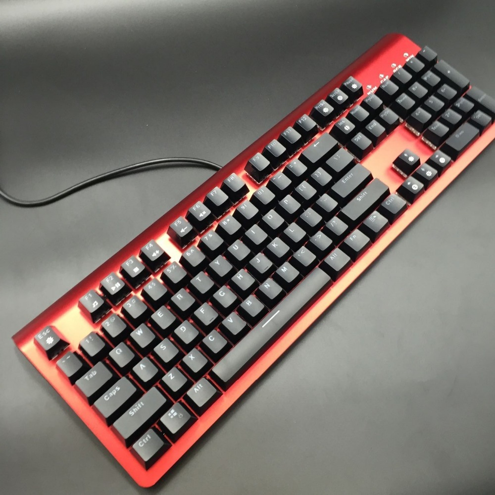 104 Mechanical Gaming Keyboard Backlit 104 ABS Keycaps Replaceable Switches Metal Case OEM ABS Keycaps Blue
