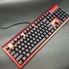 104 Механическая игровая клавиатура с подсветкой 104 колпачки ABS Сменные Переключатели металлический корпус ABS Oem колпачки синий Переключатели