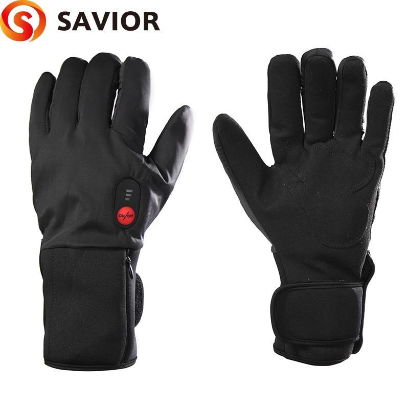 SAVIOR S 11B Thin Model Electric heating font b Gloves b font Winter Ski Biking low